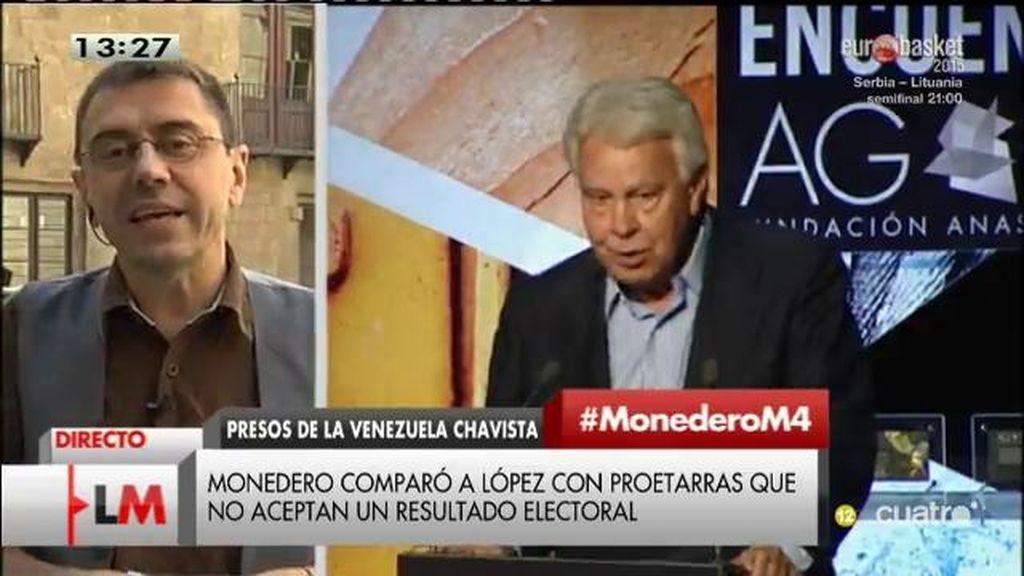 """Juan Carlos Monedero: """"Si Felipe González tuviera interés por los derechos humanos estaría en en la crisis de refugiados"""""""