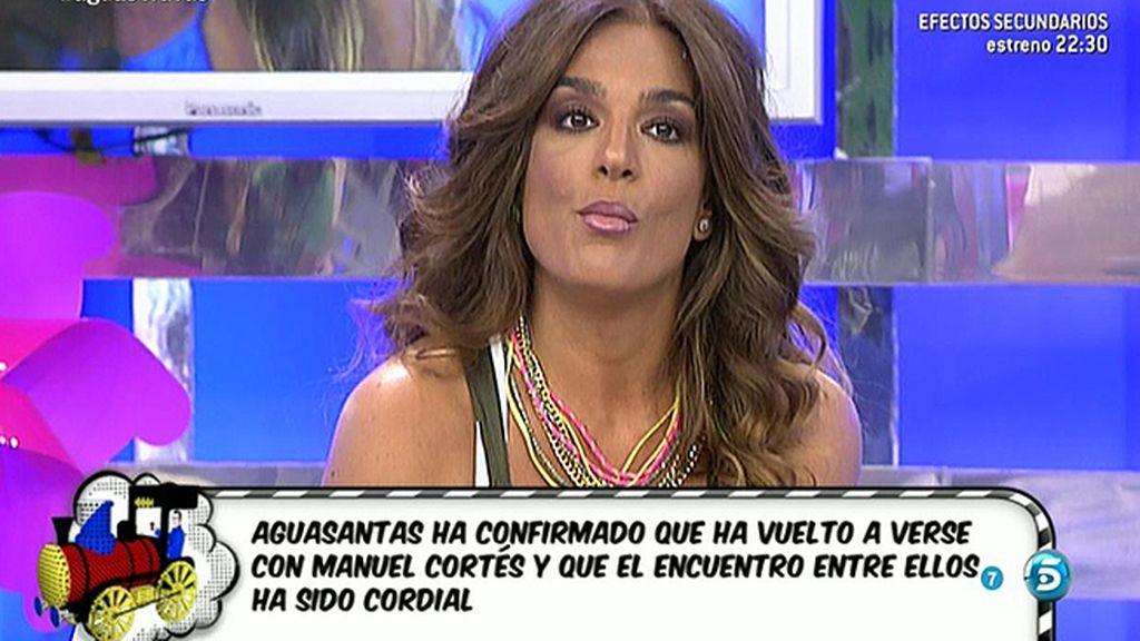 Raquel Bollo se niega a hablar de Aguasantas y se va del plató