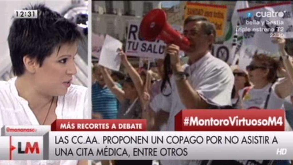 """Beatriz Talegón, sobre el Gobierno: """"Son unos salvajes, son inhumanos"""""""