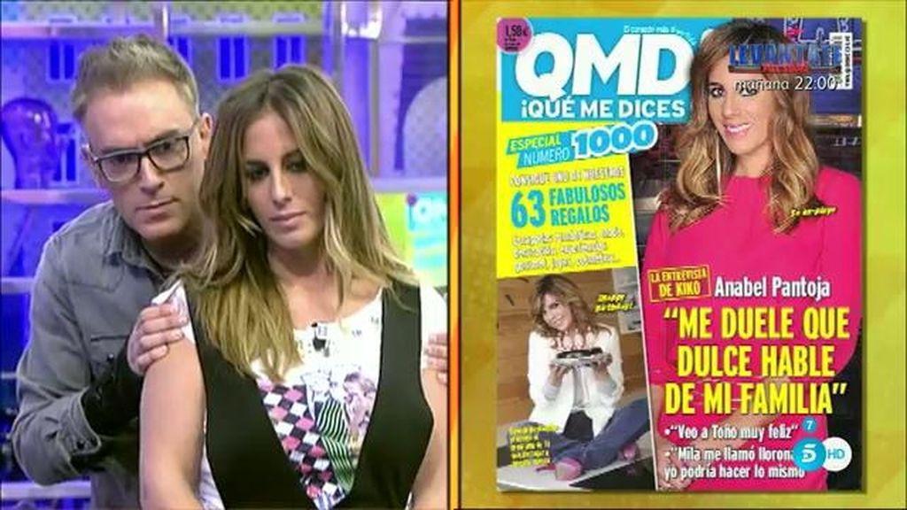 """Anabel Pantoja, en '¡QMD!': """"Me duele que Dulce hable mal de mi familia"""""""