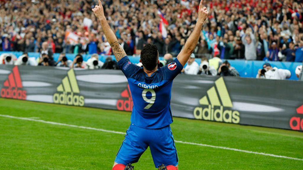 ¡Gol de Francia! Giroud marca el primer tanto para la Selección francesa (1-0)