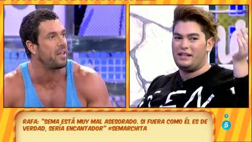 """El desencuentro de Sema y su entrenador: """"Estás muy mal asesorado en televisión"""""""