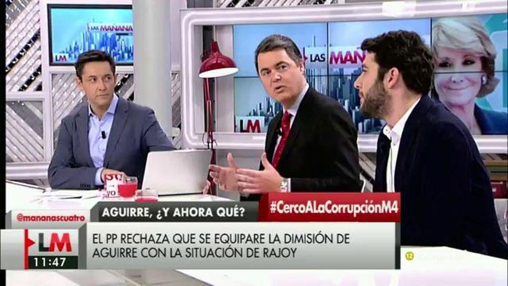 """César Zafra (Ciudadanos): """"Parece que Aguirre tiene la costumbre de dimitir, pero solamente un poquito"""""""