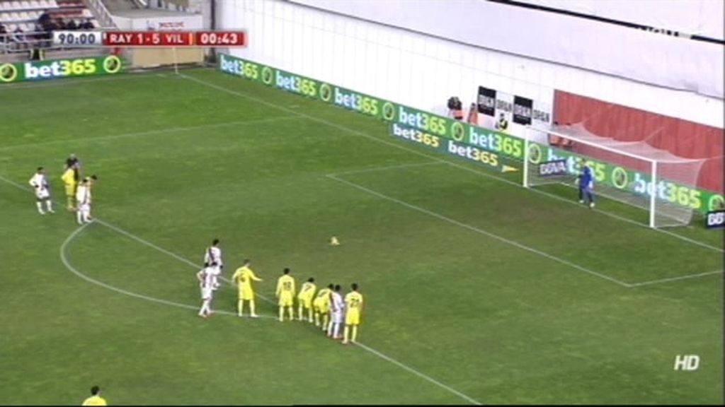 Gol de Castillo (Rayo 2-5 Villarreal)