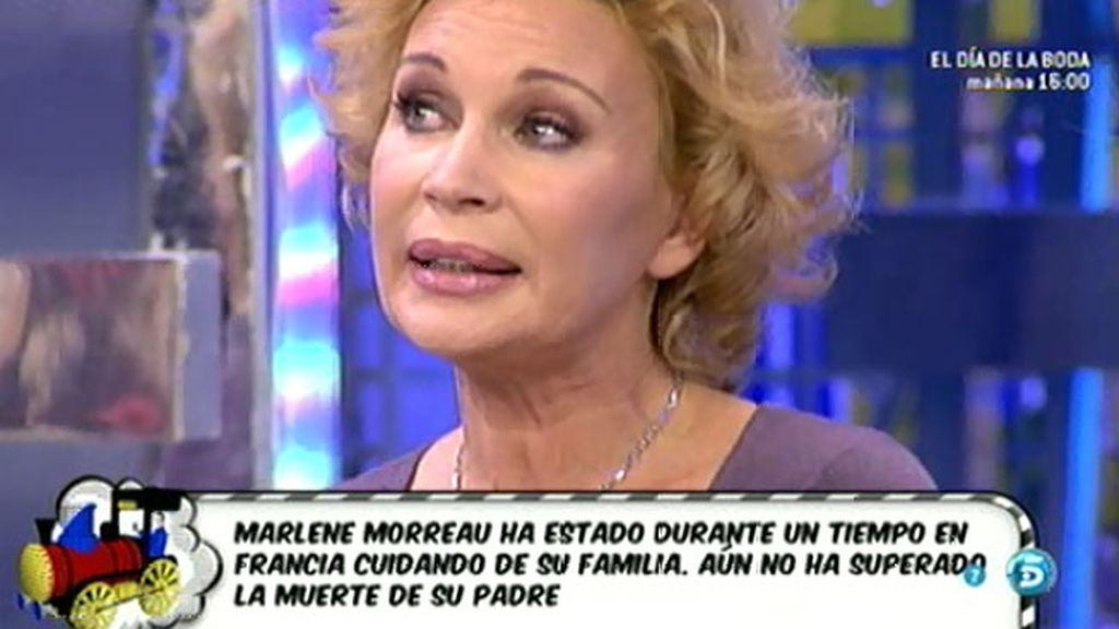 Marlene Morreau, enamorada
