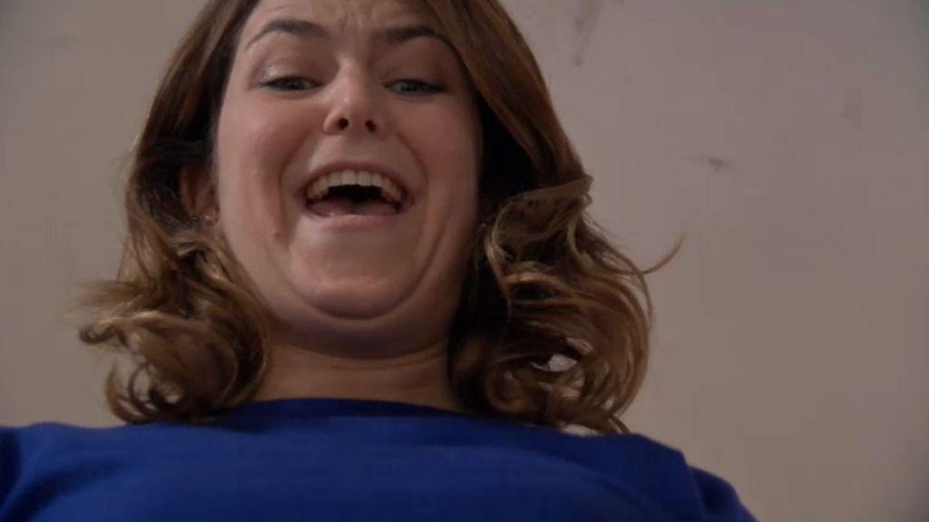Lucía, loca de contenta porque ha perdido un kilo y medio