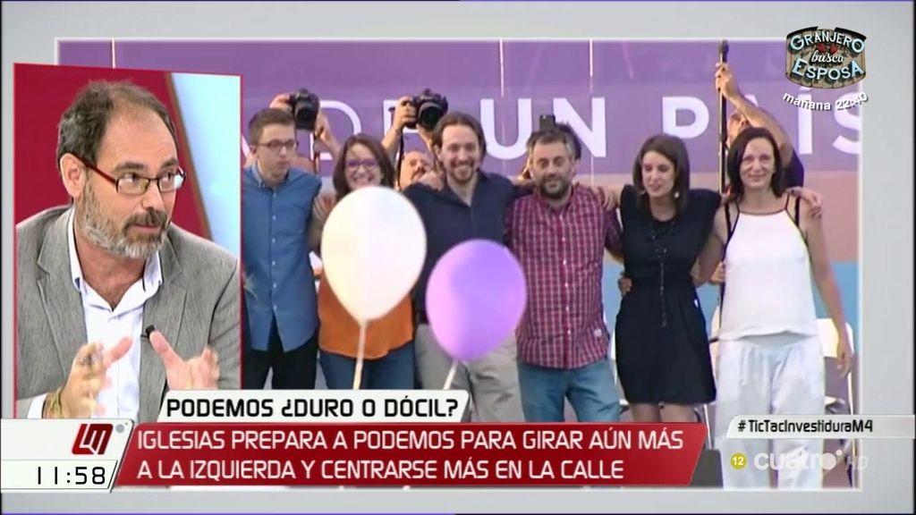 """A. Montero, al PSOE: """"Tengamos en cuenta a quién le estamos entregando el gobierno y tratemos de llegar a un acuerdo"""""""