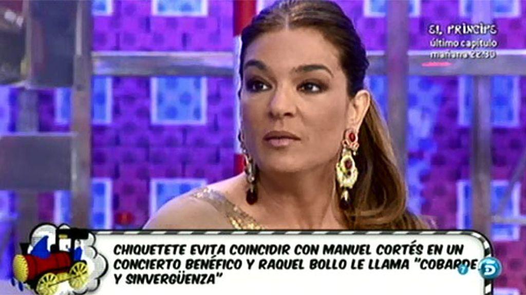 """Raquel, sobre Chiquetete: """"Tenía la oportunidad de haberse acercado"""""""