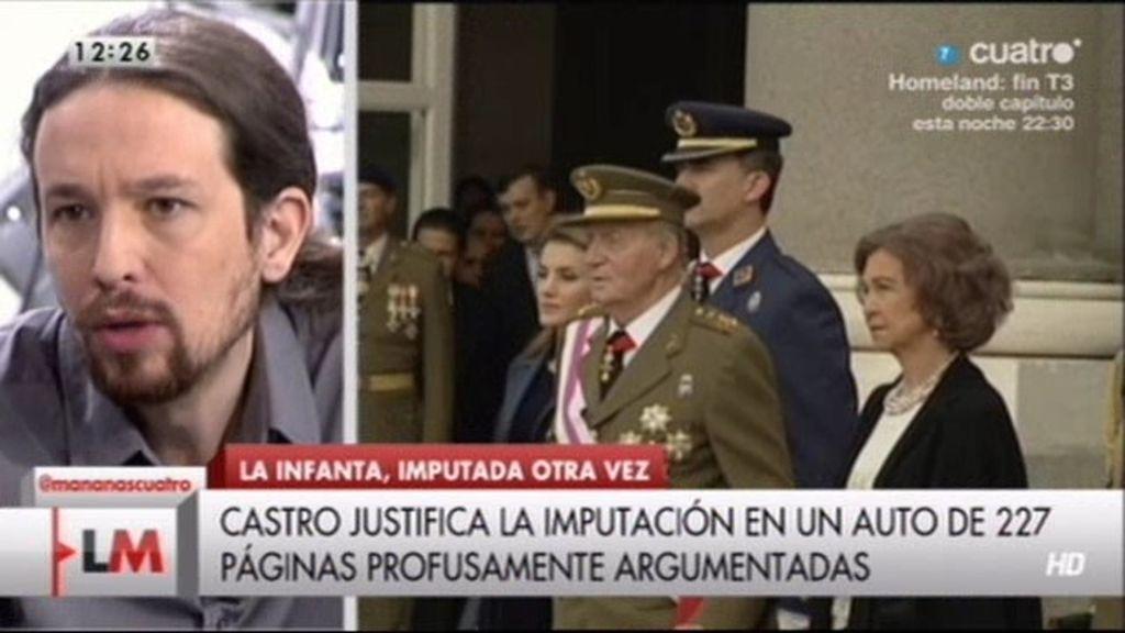 """Pablo Iglesias: """"Si Felipe está tan preparado, que se presente a unas elecciones"""""""