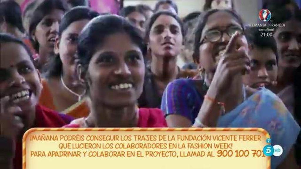 Así reaccionaron las mujeres de la Fundación 'San Vicente Ferrer' al ver la 'SFW'