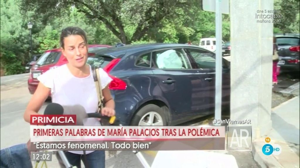 """María Palacios no cree a Sonia Moldes: """"Estamos fenomenal. Está todo muy bien"""""""