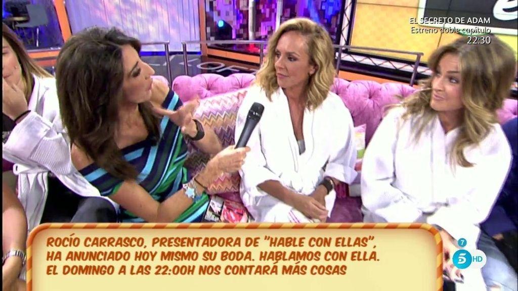 Paz Padilla se cuela en 'Hable con ellas' y Rocío Carrasco le habla sobre su boda