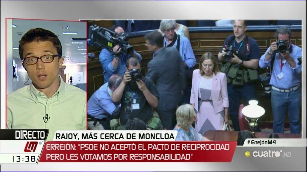 """Íñigo Errejón: """"No hay que votar cosas de las que luego uno se avergüenza"""""""