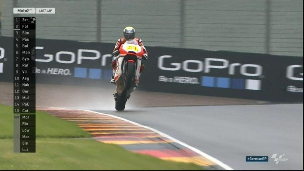 Julián Simón se reencuentra con un podio de Moto2 en la victoria de Zarco sobre Folger