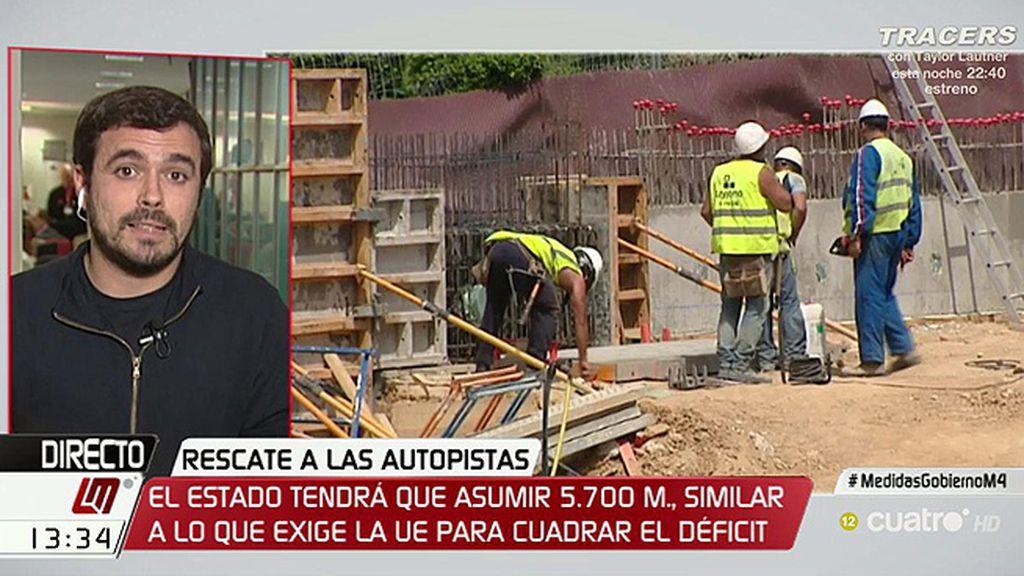 """Garzón: """"El capitalismo de amiguetes es una fórmula que describe el sistema económico"""""""