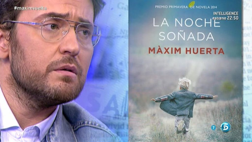 Màxim Huerta, feliz tras conseguir el Premio Primavera de Novela 2014