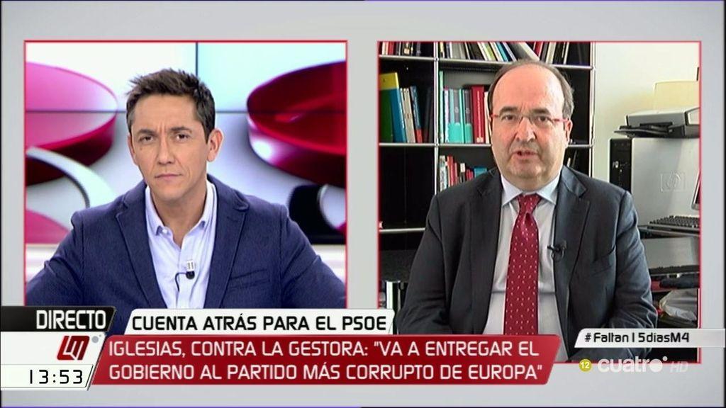 """Iceta: """"En el PSOE puede haber discrepancias, pero no hay riesgo de ruptura"""""""