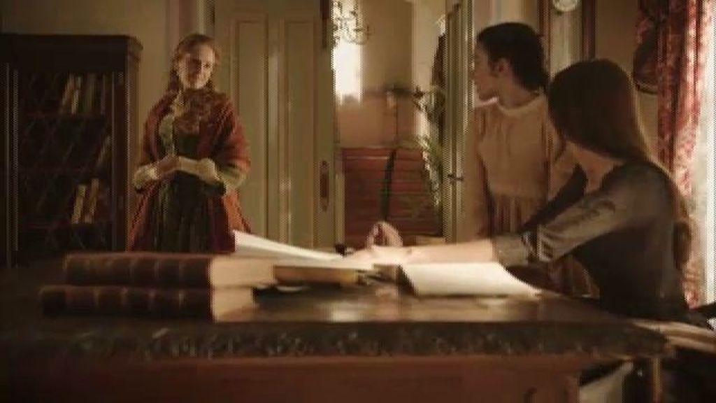 Elena descubre que Nieves ha falsificado el testamento de su padre
