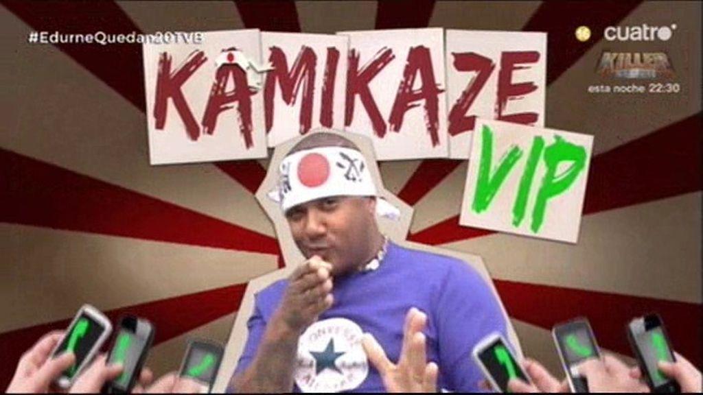 Kamikaze VIP con Henry Méndez a su amigo el cantante 'Rasel'