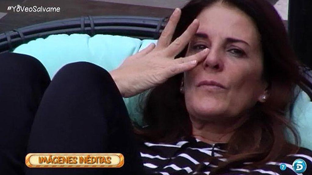 Ángela Portero se derrumba