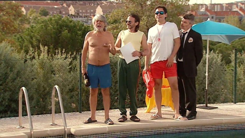 Susto con Vicente en la inauguración oficial de la piscina de Montepinar