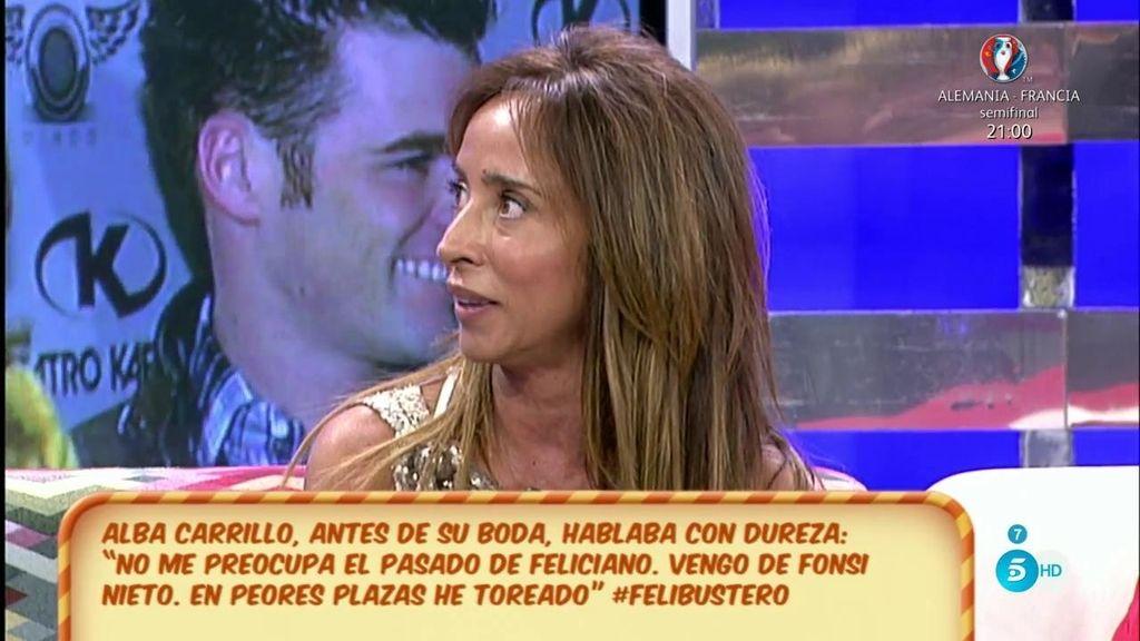 """María Patiño: """"Alba tomó conciencia de mensajes de chicas que escriben a Feliciano"""""""