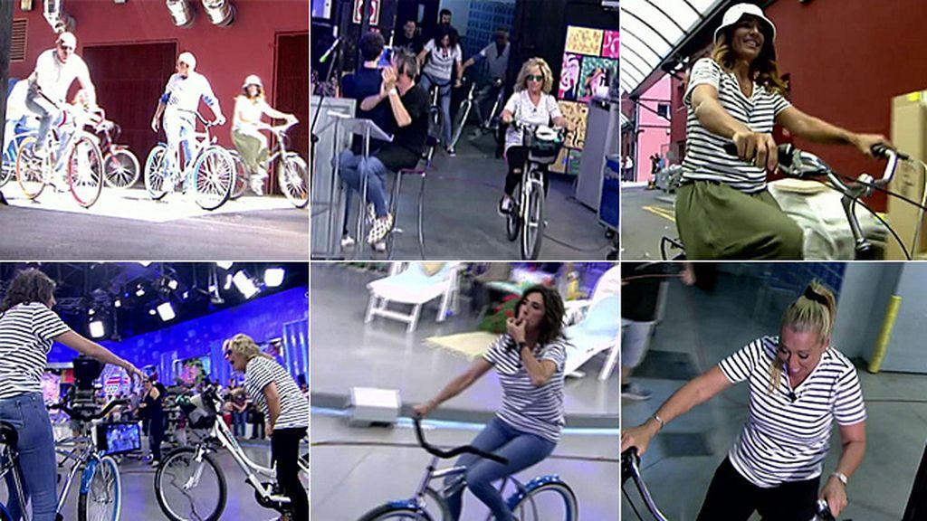 'Sálvame', en bici a ritmo de 'Verano Azul'