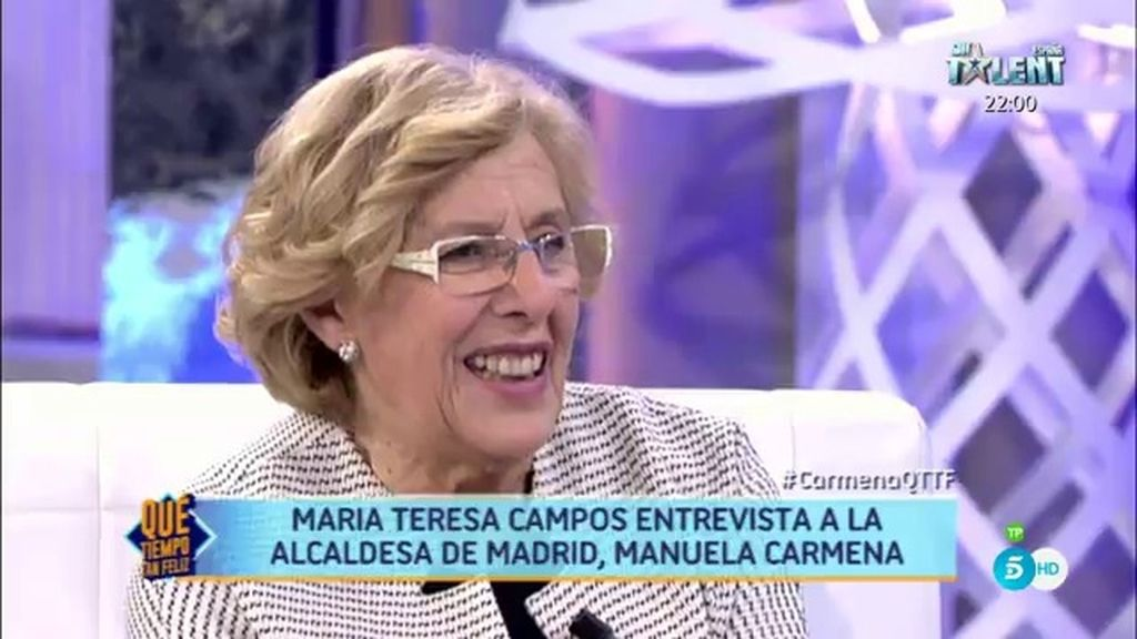 """Manuela Carmena: """"He sido una persona avanzada siempre"""""""