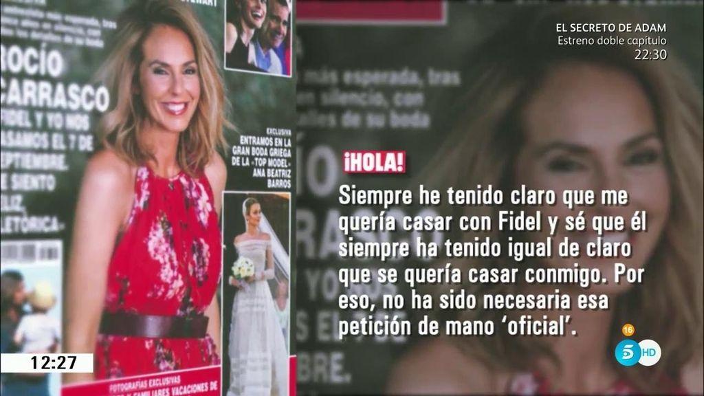 ¡Suenan campañas de boda!...Rocío Carrasco y Fidel ya tienen fecha de enlace