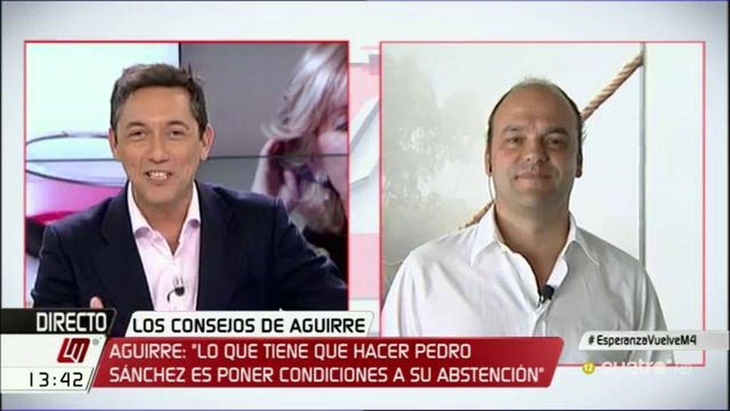 """José Carlos Díez, de C's: """"Les propongo que se cambien el logo y se pasen al azul"""""""