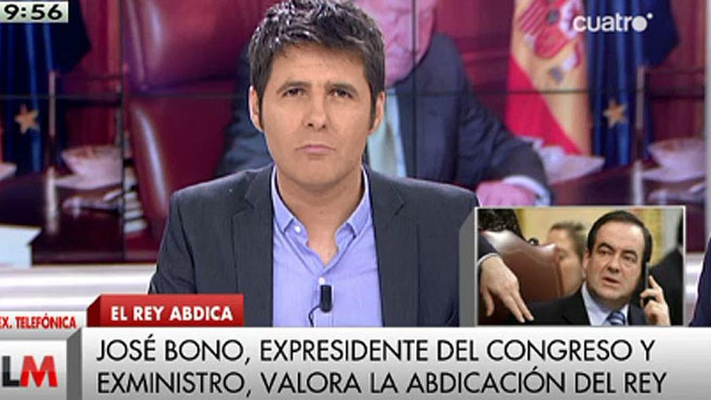 """José Bono: """"España necesita tranquilidad institucional y normalidad"""""""