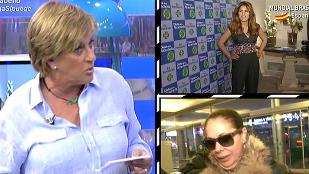 Chelo Gª Cortés recibió los polémicos mensajes de Chabelita en los que habla de los amigos de su madre