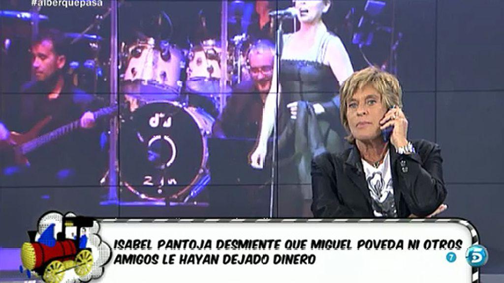 Isabel  Pantoja niega haber pedido dinero a sus amigos para pagar la multa