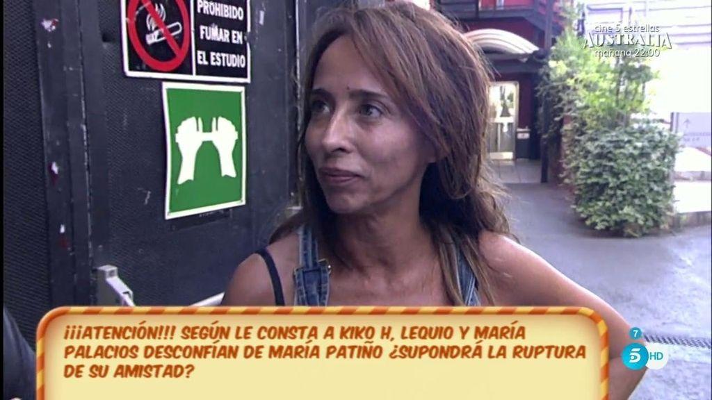María Patiño decepcionada tras saber de la desconfianza de Lequio y María con ella