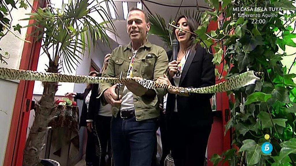 Carlos Lozano inaugura la 'Sálvame Animal Print Galery'