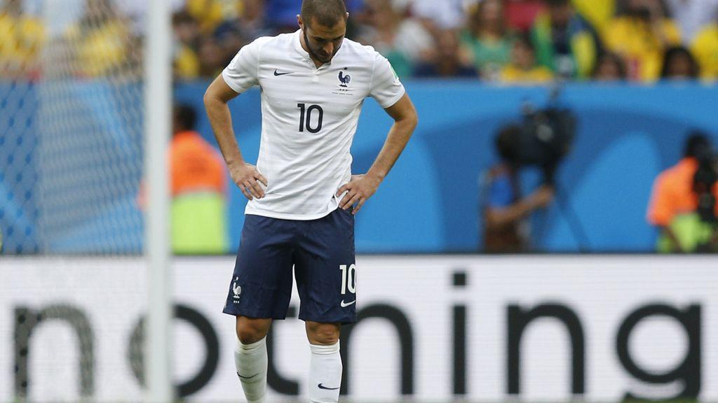 Karim Benzema estuvo participativo ante Nigeria, pero se marchó de vacío