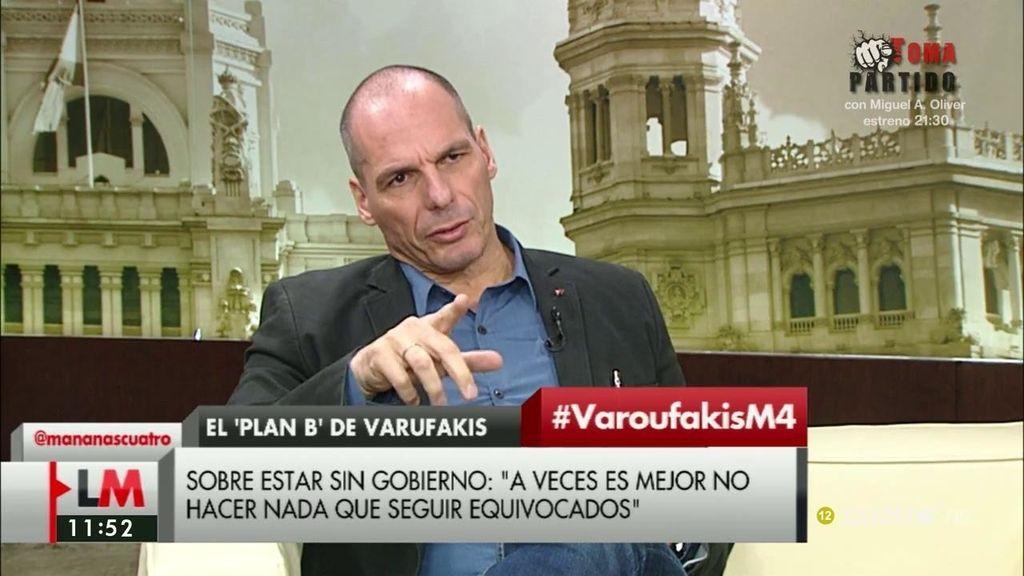 """Yanis Varoufakis, sobre la situación de España: """"A veces es mejor no hacer nada que seguir equivocados"""""""