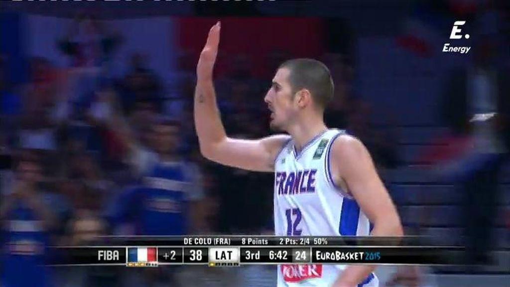 De Colo despega a Francia con cinco puntos consecutivos: triple y acción individual