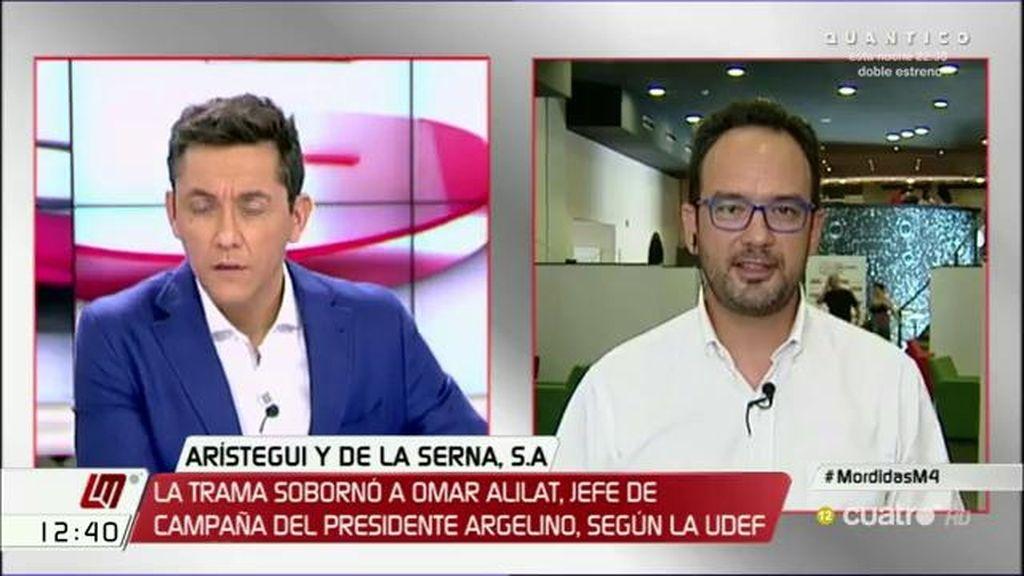 La entrevista a Antonio Hernando, a la carta