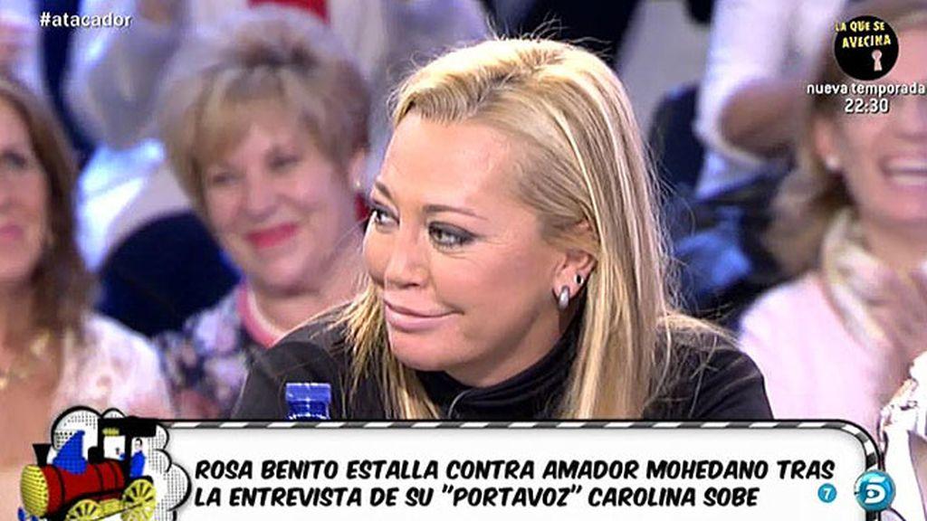 """Belén: """"Amador, te invito a que vengas al 'Deluxe' y así canjeamos los 6.000 euros"""""""