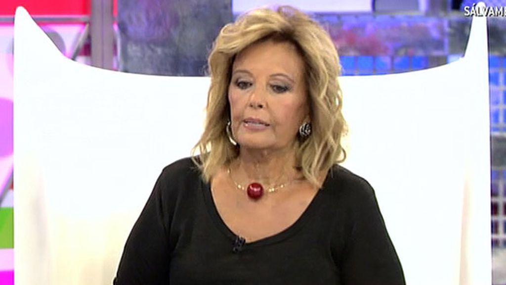 """María Teresa Campos: """"Edmundo nunca va a posar conmigo en una revista"""""""