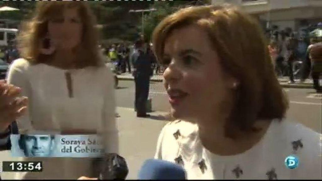 """Soraya S. de Santamaría: """"El discurso ha sido muy sentido, como es el nuevo Rey"""""""