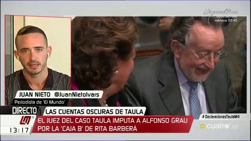 El juez del caso Taula imputa a Alfonso Grau por la 'caja B' de Rita Barberá