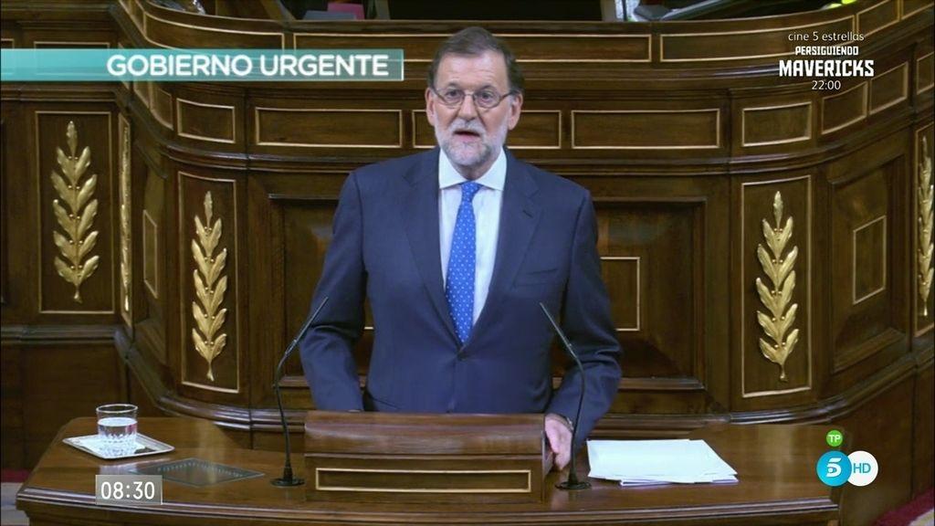 """Rajoy: """"Nos enfrentamos a desafíos a los que ningún partido puede responder en solitario"""""""