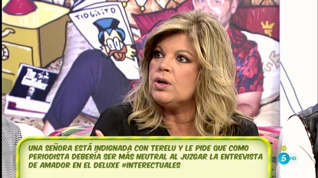 """Terelu Campos, de Rosa Benito: """"Flipo con que me llame 'ruin"""""""