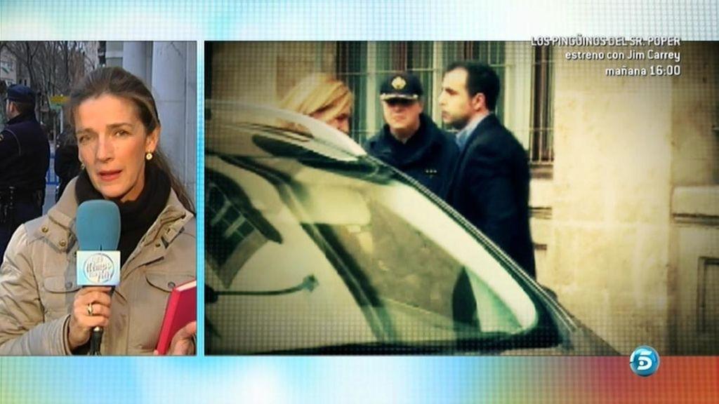 Las dos preguntas que han desestabilizado a la Infanta Cristina