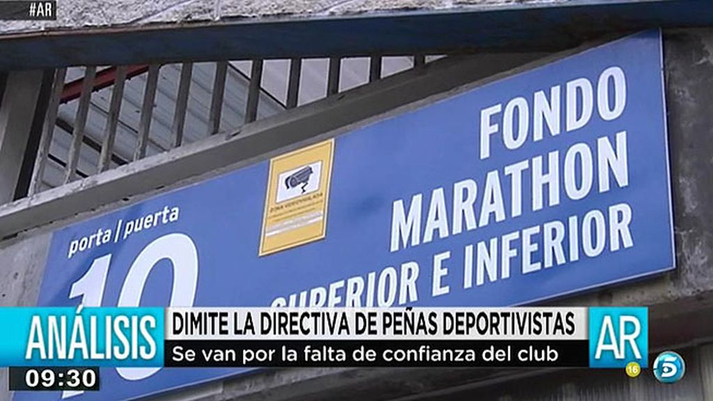 Dimite la directiva de peñas deportivistas