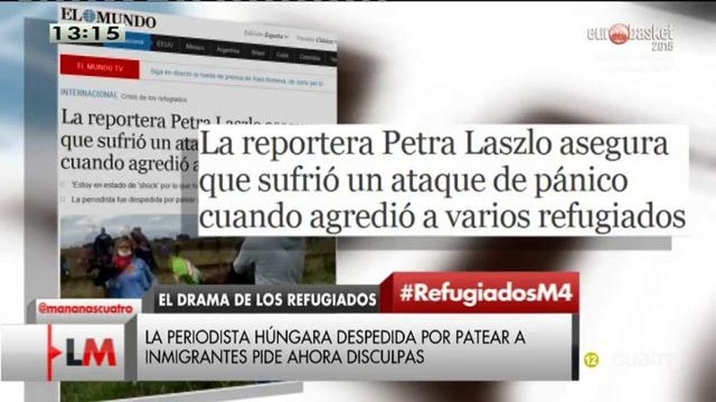 """La periodista que zancadilleó a los refugiados afirma que tomó """"una decisión equivocada"""" en una """"situación de pánico"""""""