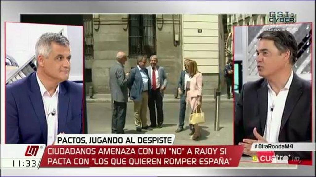 """C. Rojas (PP), sobre Convergencia: """"No hay negociación, lo que hay es una voluntad de sacar adelante el gobierno y la investidura"""""""