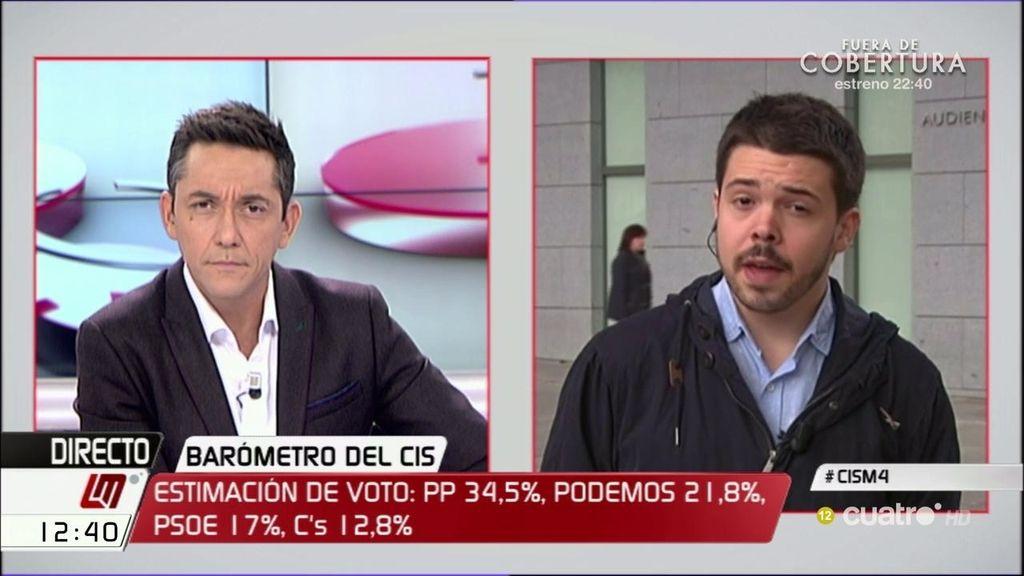 "Nacho Corredor: ""Pasamos de ir hacia el multipartidismo a terminar con un PP claramente hegemónico"""